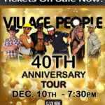 Village People 40th Anniversary Tour featuring original lead singer Victor Willis